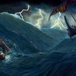 Jonás arrojado del barco