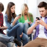 teléfono, chat, conversación