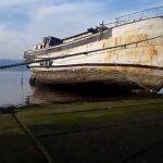 mar ruinas, puerto, yate