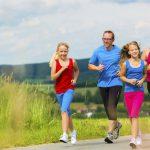 familia corriendo